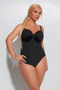 Krisline Beach one pice swimmsuits soft black