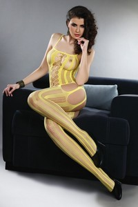 Almas yellow lc 17132 bodystocking, Livia Corsetti