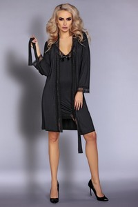 Livia Corsetti Luisanna lc 90306 touchable collection dressing gown + shirt + panty