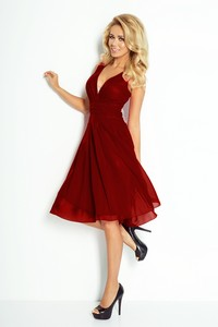 Numoco 35-8 szyfonowa dress - bordo dresses dresses - all
