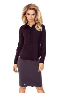 Numoco Mm 016-3 shirt with baskinką - black bluzy / bluzki bluzy / bluzki - all